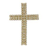1.75 ctw Diamond Cross Pendant in 14 kt Yellow Gold
