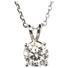 1 .01 ct Diamond Solitaire Pendant