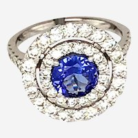 Tanzanite & Diamonds 14kt gold Ring