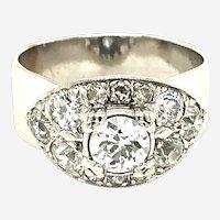 Vintage 1.60ct Diamond Wide Ring 14kt
