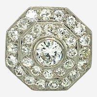 Vintage 3.75ct Diamond & Platinum Ring