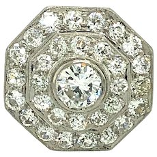 Vintage 3.75ct Diamond & Platinum Ring