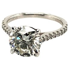 3.04ct Diamond Engagement Ring Platinum