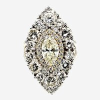 5.78ct Diamond Marquise Shape Ring 18kt