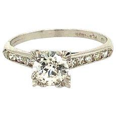 0.75ct Old European Cut Diamond Platinum Ring