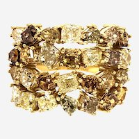 Fancy Natural Diamond Ring 18kt Gold