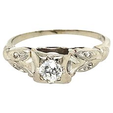 Vintage Diamond Ring 14kt