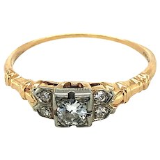 Vintage Diamond Ring 14kt