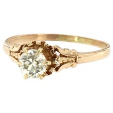Antique Diamond Solitaire Engagement Ring, Circa Edwardian Epoque