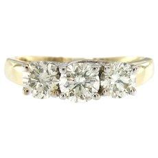 2 CTW Diamond Three Stone Engagement Ring in 14K Gold