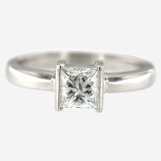 0.95 ct Diamond Solitaire Ring in 14 kt White Gold