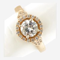 1.38 ctw Diamond Engagement Ring in 18 kt Rose Gold