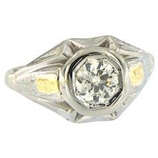 Vintage 0.85 ct Diamond Men's Ring, circa 1930-40