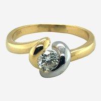 Fine 0.40 ct Diamond in 18k Gold Ring