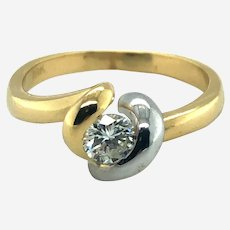 Fine 0.40 ct Diamond in 18k Gold Ring