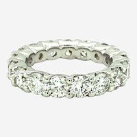 5.20 ct Diamond Eternity Band Ring in 18kt White Gold