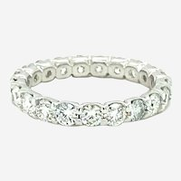 3.20 ct Diamond Eternity Band Ring in 18kt White Gold