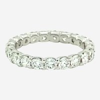 2.18 ct Diamond Eternity Band Ring in 18kt White Gold
