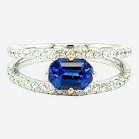 1.51 ct Sapphire & Diamond 18kt Ring
