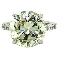 9.24 ct  Diamond Ring in 18kt White Gold