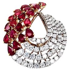 8.86cts Ruby & Diamonds Ring 18kt Gold