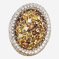10.35ct Fancy Diamond Ring 18kt Gold