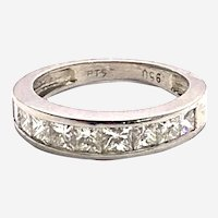 Platinum 1.25 ct Princess Cut Diamonds Band Ring