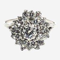 18kt Gold Diamond Vintage Cluster Ring