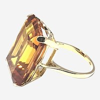 18kt Yellow Gold 25 ct Citrine Cocktail Ring