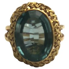 18kt Yellow Gold Vintage Gemstone Ring