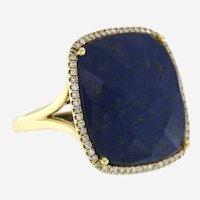 14K White Gold Blue Sapphire & Diamond Cocktail Ring, Meira T