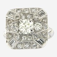 Platinum Art Deco 1.80 ctw Diamond Antique Ring, circa 1920-30