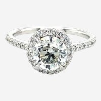 GIA Cert. 1.50 Carat H Si2 Brilliant Cut Diamond Engagement Ring