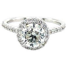 GIA Cert. 1.50 Carat H Si2 Brilliant Cut Diamond Engagement Ring