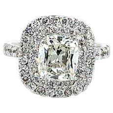 Cushion Cut Diamond GIA 2.16 ct. Engagement Ring