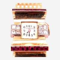 Tiffany & Co Ruby and Diamonds 14kt Gold Watch