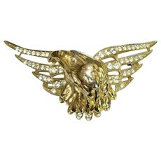Butler and Wilson Large Eagle Brooch