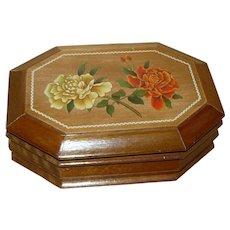 Wood Jewelry Box with Mirror Inside