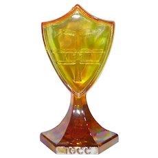 Tiffin Carnival Glass Shield Sign For TGCC