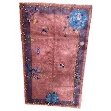 Chinese Peking Oriental rug 4x6.6