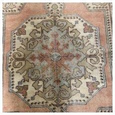 Turkish Oriental rug ,flat no pile  4.6x7.8