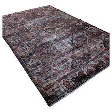 Worn persian Bkahtiary garden design 7.3x11.3 Oriental rug