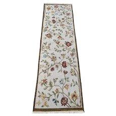 Soumak flatwoven hand made oriental rug 2.5x8.1 new