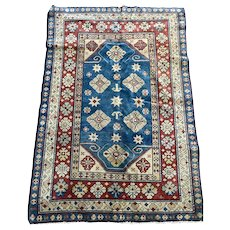 Caucasion Kazak light blue Oriental rug 5.8x4.10