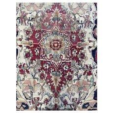 Persian Lavar Kerman 1920'S 7.4x11.5 Oriental rug