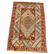 Turkish Oriental rug 4.1x5.11