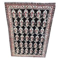 4.9x6.11Persian Iranian fine quality Kurdish paisley design oriental rug