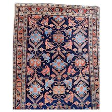 Fine Persian Hamadan blue rug