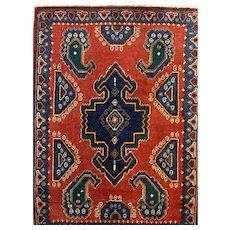 Persian Iranian ghashghaii Afshar Oriental rug 2.3x3.2