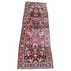 Persian Iranian Sarouk runner 2.7x7 Oriental rugs